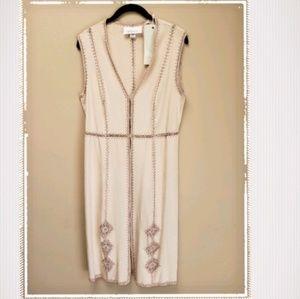 NWT La Bellum by Hillary Scott faux suede vest